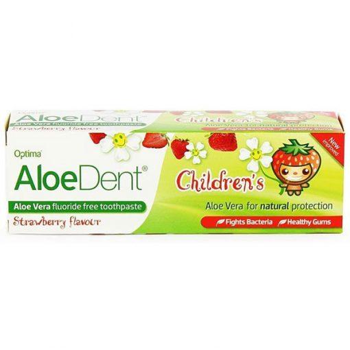 AloeDent Children's Aloe Vera Fluoride Free Toothpaste